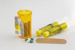 De Waarschuwingen van het drugvoorschrift Stock Foto's