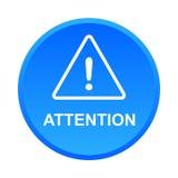 De waarschuwingsknoop van de aandachtsvoorzichtigheid stock foto's