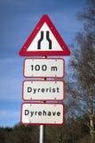 De waarschuwingsseinen van de weg Royalty-vrije Stock Foto's