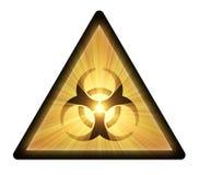 De waarschuwingssymbool van Biohazard Stock Afbeelding