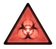 De waarschuwingssymbool van Biohazard Stock Foto's