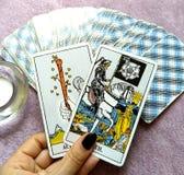 De Waarzegging Geheime Magisch van tarotkaarten royalty-vrije stock afbeelding