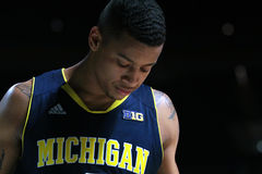 De wacht Trey Burke van Michigan Stock Foto's