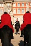De badmeesters op Horseguards paraderen Stock Foto
