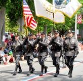 De Wachten van de Eer van de Politie van Bristol, Rhode Island Stock Fotografie