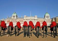 De wachten van het paard in Londen Stock Foto
