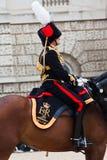 De wachten van het Paard paraderen in Londen Stock Foto