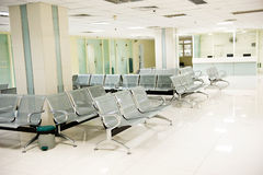 De wachtkamer van het ziekenhuis Royalty-vrije Stock Afbeeldingen
