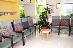 De wachtkamer van het ziekenhuis Stock Foto