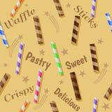 De wafel plakt naadloos patroon Vector Illustratie