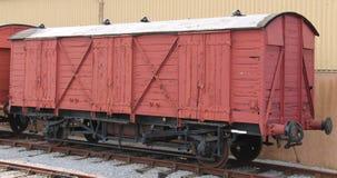 De wagen van de spoorwegvracht stock foto