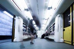 De wagen van de trein in metro van Moskou royalty-vrije stock fotografie