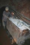 De wagen van mijnwerkers stock foto