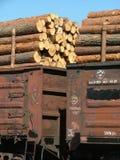De wagens van de lading stock foto's