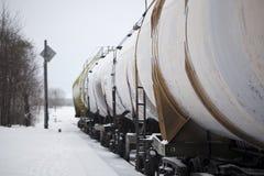De wagens van de vracht in lijn Royalty-vrije Stock Afbeelding