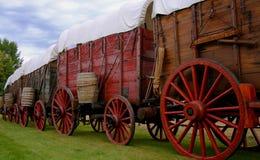 De Wagens van het erts royalty-vrije stock afbeelding