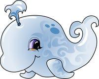 De walvis van het beeldverhaal stock illustratie