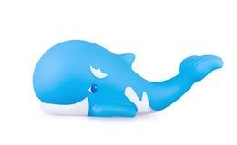 De walvis van het stuk speelgoed op wit Stock Afbeelding