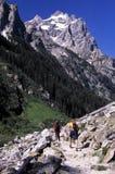 De wandelaars van Moutain stock fotografie