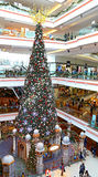 De wandelgalerij van de het festivalgang van de kerstboom, Hongkong Stock Foto's