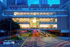 De wandelgalerij van Ifc, Hongkong stock afbeelding