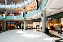 De Wandelgalerij van winkelcentrumdoubai Stock Foto