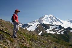 De wandeling van de berg Stock Foto's
