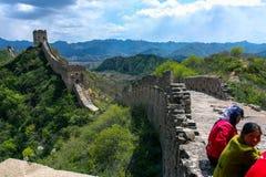 De wandeling van de Grote Muur Royalty-vrije Stock Foto