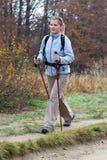 De wandeling van de herfst Stock Foto