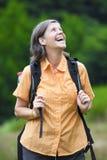 De wandeling van de vrouw Royalty-vrije Stock Foto's