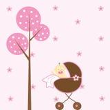 De Wandelwagen van het Meisje van de baby Stock Afbeelding