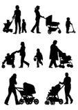 De wandelwagens van de baby Stock Foto's