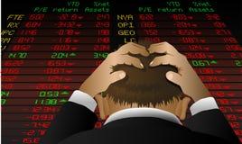 De wanhoop van de beurs vector illustratie