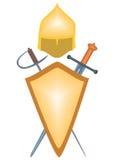 De wapens van oude strijders. Royalty-vrije Illustratie