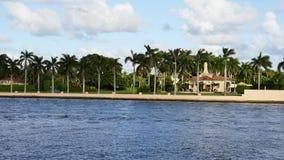 In de war brengen-a-Lago toevlucht, Palm Beach, Florida Stock Foto