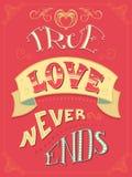 De ware Liefde beëindigt nooit Royalty-vrije Stock Foto's