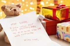 De ware wens van het kind op Kerstmis royalty-vrije stock foto's
