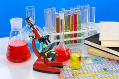 De waren van het laboratorium stock afbeelding