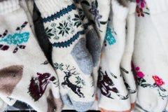 De warme wol mept met de hand gemaakt Royalty-vrije Stock Afbeeldingen
