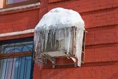 De warmtepomp van de airconditioning Stock Afbeeldingen