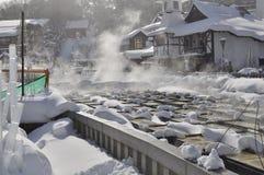 De warmwaterbron Japan van Kusatsu Royalty-vrije Stock Fotografie