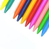 De Was van kleurpotloden stock fotografie
