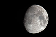In de was zettende Gibbous Maan Royalty-vrije Stock Afbeelding
