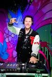 De wascijfer van DJ Tiesto bij Mevrouw Tussauds San Francisco Stock Foto's