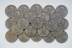 ` De Washington Quarter del ` - dólar cuarto Imágenes de archivo libres de regalías