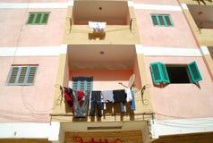 De waskleren drogen op het huis Royalty-vrije Stock Foto