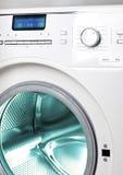 De wasmachine, sluit omhoog van de vertoning, het mangat royalty-vrije stock afbeelding