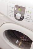 De wasmachine van de vertoning Macrofotodeel van moderne huiswasmachine royalty-vrije stock afbeelding