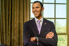 De Wasmuseum van Barack Obama Figurine At Madame Tussauds royalty-vrije stock fotografie