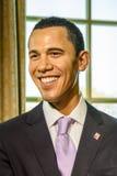 De Wasmuseum van Barack Obama Figurine At Madame Tussauds stock afbeelding